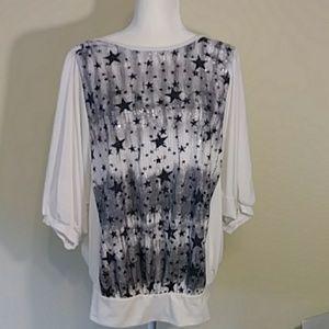 Torrid Sequin Stars Shirt - Size 1